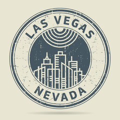 Grunge rubber stamp or label with text Las Vegas, Nevada