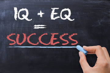 Success motivation phrase on blackboard