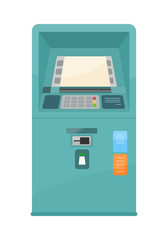 Wall Mural - Automated Teller Machine Vector Illustration.