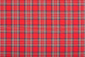 Red checkered scottish fabric texture background