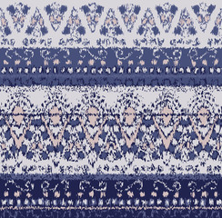 Geometric ethnic oriental ikat seamless pattern traditional.