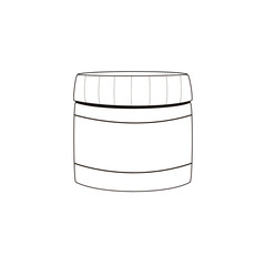 Jar icon isolated on white background. Vector art.