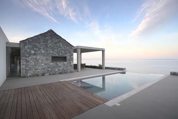 Exterior view of Villa Melana, Tyrou Argolida, Greece.
