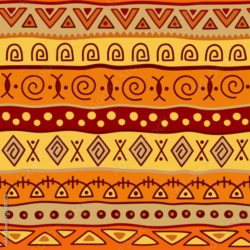 Seamless Color Pattern In Ethnic Style Ornamental Element African
