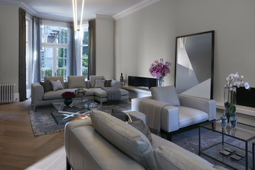 Residential building, London, UK. Interior view.