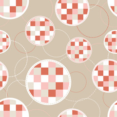 Seamless geometric pattern of circles. Print. Repeating background. Cloth design, wallpaper.