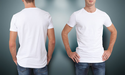 White Pocket T Shirt With Design On The Sleeves
