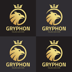 gryphon logo design template, Vector illustration