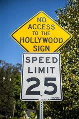 znak drogowy Hollywood