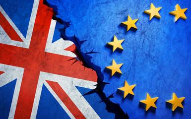 Brexit-Motiv auf Steinwand