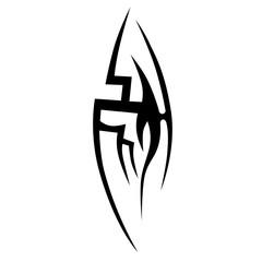 Tribal tattoos design element. Art tribal tattoo.
