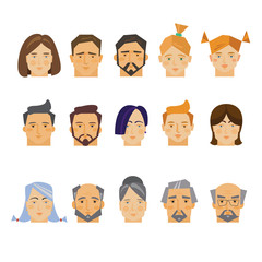 Those people, collection of vector illustration of a flat style.