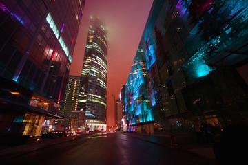skyscraper in night
