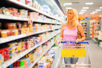 Adult Woman At The Supermarket