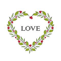 Romantic heart decoration