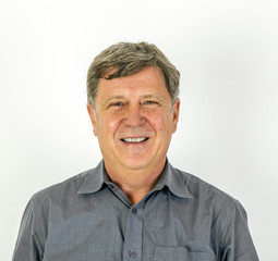 friendly smiling man  in  shirt