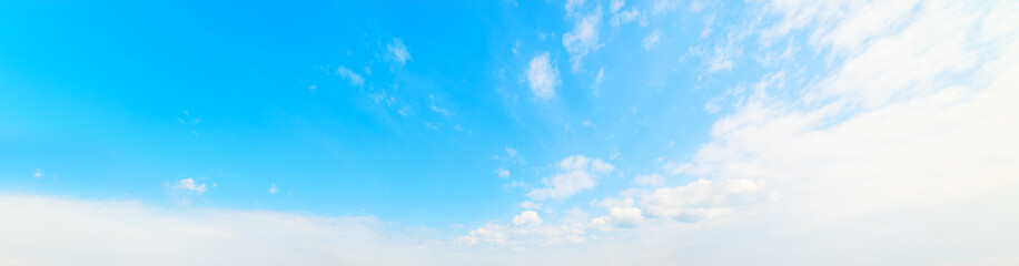 cirrus clouds and blue sky