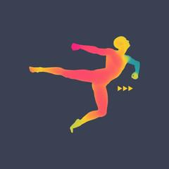 Gymnast. 3D Model of Man. Human Body Model.