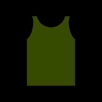 green Shirt Soldier. Army clothes isolated. Military uniforms