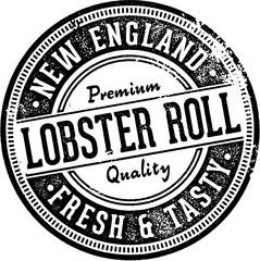 Vintage Lobster Roll Restaurant Sign