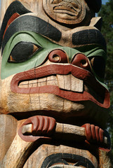 Totem Pole Closeup, Sitka, Alaska