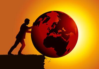 Terre - Destruction de l'environnement - réchauffement climatique - Planète
