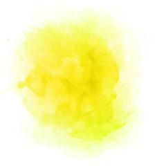 Beautiful yellow watercolor splash