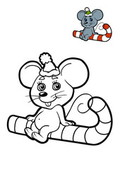 Coloring book for children, Mouse