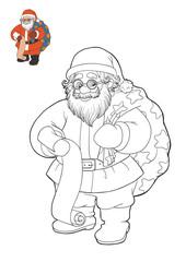 Coloring book, Santa Claus