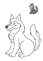 Coloring book, Wolf