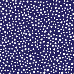 Abstract Seamless Pattern with Stars on Blue Background . Backdrop Can be Used for Wallpapers, Curtain, Plates, Surface Textures, Wrapping, American Flag Design.