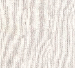 White knitted fabric texture
