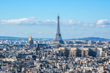 Paris Panorama. View from Cathedral Notre Dame de Paris. France