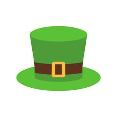 Leprechaun Hat green isolated. National Irish retro cap for dwar