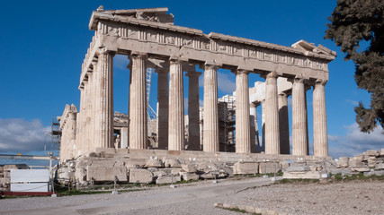 The Parthenon in the Acropolis of Athens, Attica, Greece