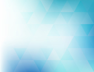 Abstract teal pattern with transparent triangles