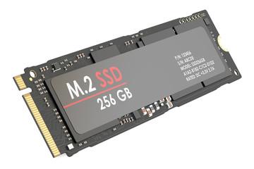 m.2 SSD 256 gb, 3D rendering