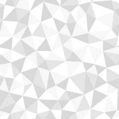Low poly white, seamless abstract vector pattern