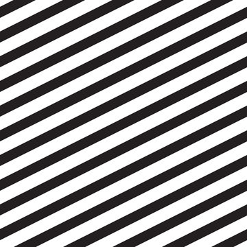Black and white slanted lines. Seamless vector pattern