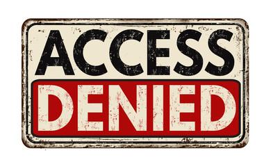 Access denied vintage metallic sign