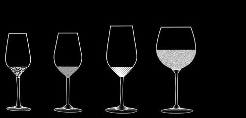 set of glasses