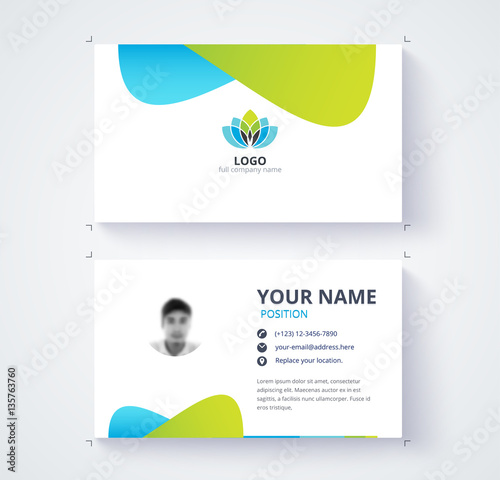 Modern business card template blue and green card background modern business card template blue and green card background accmission Image collections