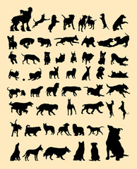 Dog silhouette. Good use for symbol, logo, web icon, mascot, sign, or any design you want.
