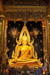 Buddha image in church of Wat Pho, Bangkok, Thailand.
