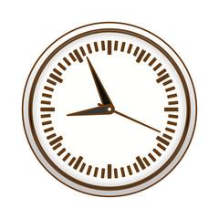 gray wall clock icon image design, vector illustration