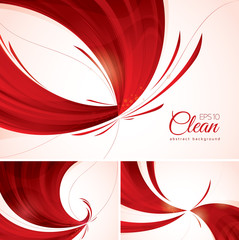 red abstract background 1