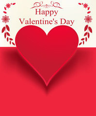 emblem with Valentine day