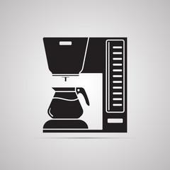 Векторная иллюстрация иконка простой символ плоский для веб coffee кофемашина кофеварка капельная