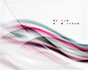 Vector shiny wave abstract background