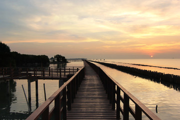 wooden jetty on seaside